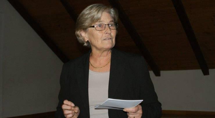 Gemeindeammann Brunette Lüscher hält ihre Neujahrsansprache im Hirschensaal.
