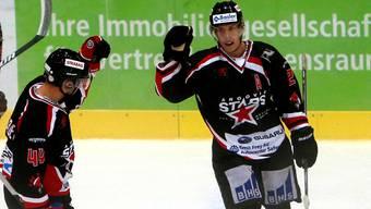 Kann Pascal Wittwer (rechts) von den Argovia Stars auch gegen Burgdorf jubeln?