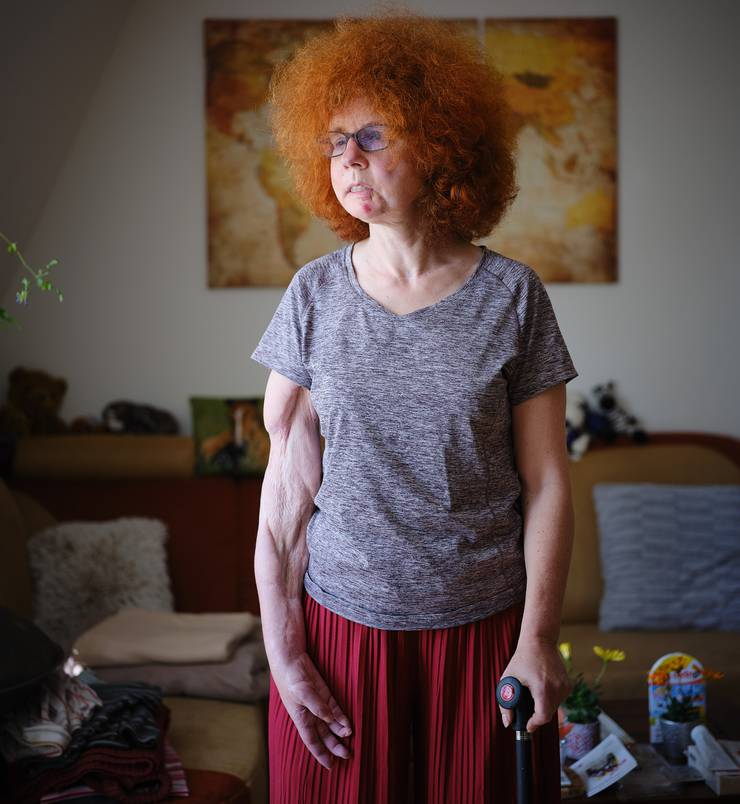 Germany, Berlin, 2019/04/17 Beate Flanz,in ihrer Wohnung in Berlin. (Photo by Gregor Zielke) -