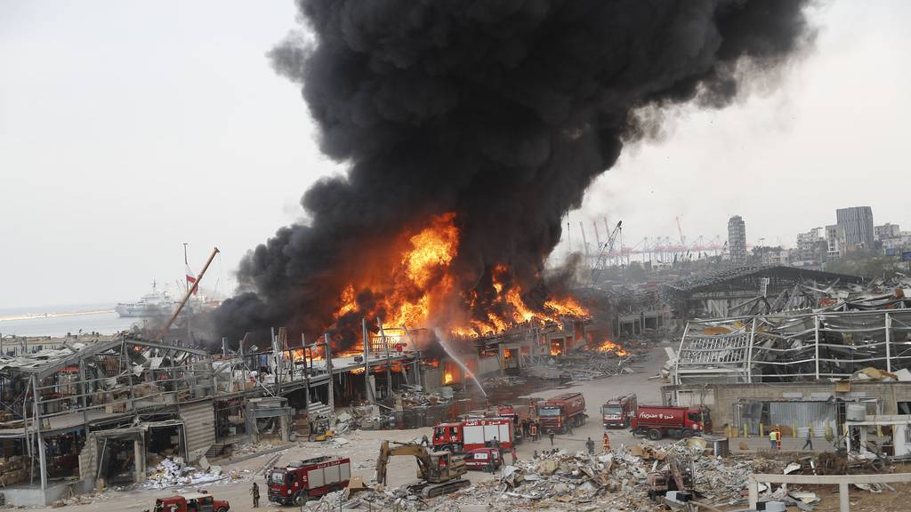 Wieder  Grossfeuer im Hafen von Beirut – Angst in der Bevölkerung