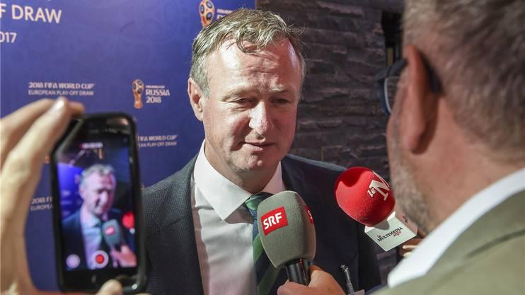 Nordirlands Coach Michael O'Neill ist ein gefragter Gesprächspartner.