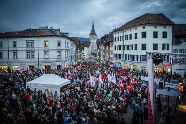 Aufstand der Anständigen in Aarau