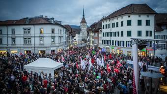 3500 Demonstranten kamen zum «Aufstand der Anständigen» nach Aarau.