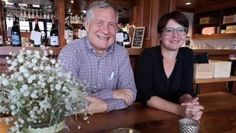 Unternehmer Jörg Strässle und Sarah Imbaumgarten, Geschäftsführerin des Restaurants Kuh.