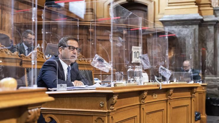 Bundeskanzler Walter Thurnherr vertrat im Ständerat das Covid-19-Gesetz.