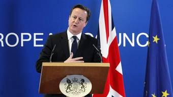 Premierminister Cameron an einem EU-Gipfel im vergangenen Dezember (Archiv)