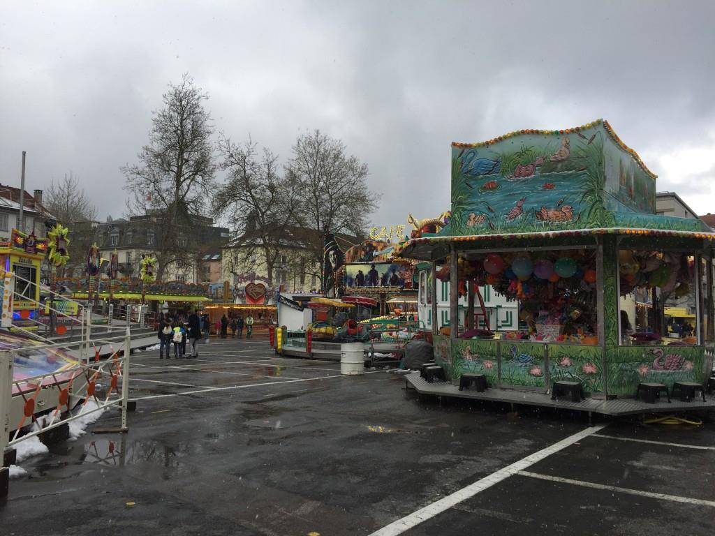 Noch ist es ruhig am Jahrmarkt in St.Gallen. (© FM1Today/Sheila Eggmann)