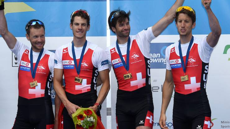 Erfolgreich: Simon Schürch, Mario Gyr, Lucas Tramèr und Simon Niepmann.