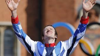 Bradley Wiggins holt sich im Zeitfahren die Goldmedaille. Ein sichtlich entäuschter Cancellara wird «nur» Siebter