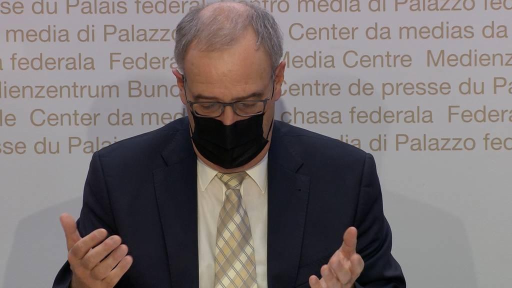 Parmelin: «Der Bund beteiligt sich künftig an der Hälfte der ungedeckten Kosten»