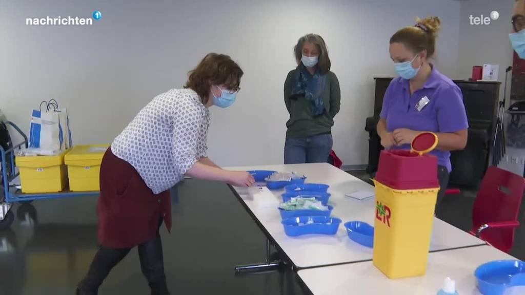 Vorbereitungen der Impfteams in Luzern
