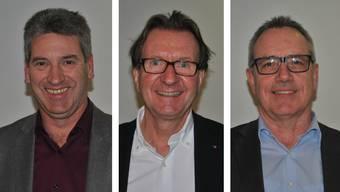 Daniel Suter (Gemeindeammann Frick), Hans-Ruedi Hottiger (Stadtammann Zofingen) und Werner Müller (Gemeindeammann Wittnau)