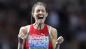 Historische EM-Goldmedaille für Lea Sprunger.