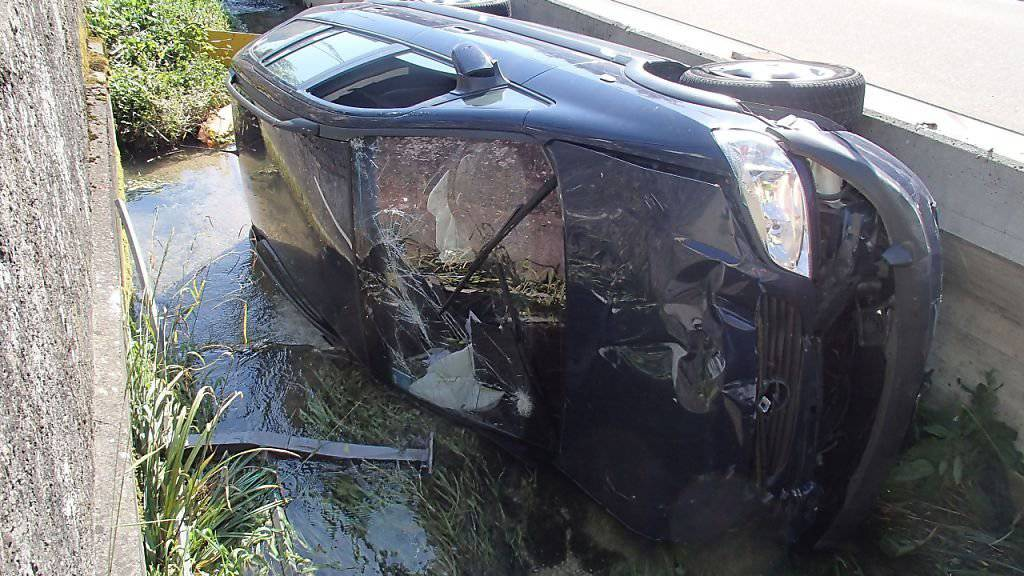 Nachdem er einem entgegenkommenden Auto ausweichen musste, baute ein 51-jähriger Lenker selbst einen Unfall.