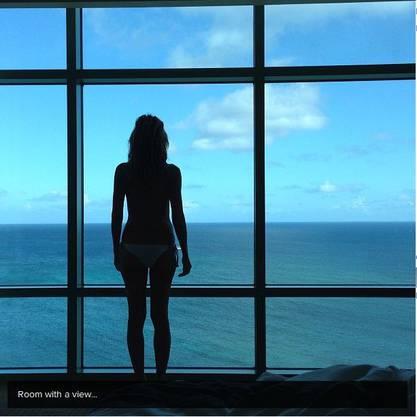 Nettes Hotel! Tolles Zimmer mit Aussicht: Hier logiert Heidi.