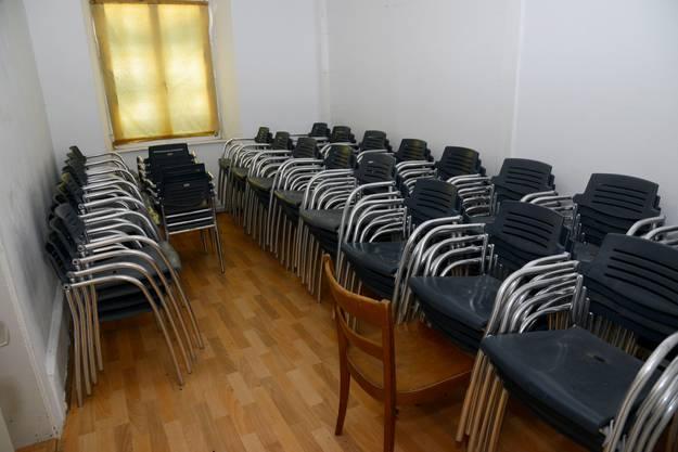 Dieses Zimmer wird als Abstellraum benutzt