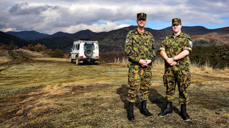 Hervé Findeisen und Thomas Zahn sind zwei von 235 Swisscoy-Angehörigen, die im Kosovo Dienst leisten.
