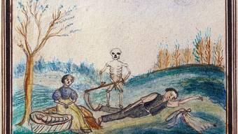 Ein Hungerbild aus St. Gallen aus dem Jahr 1817 erinnert an die Not der Menschen in jenen Jahren.