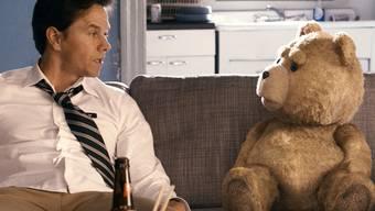Das Traumpaar der kommenden Oscar-Gala: Mark Wahlberg und sein unflätiger Bär (Archiv)