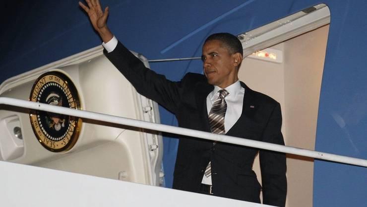US-Präsident Barack Obama bei der Abreise zum Nato-Gipfel.