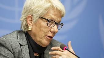 """Wird für ihr Lebenswerk ausgezeichnet: Carla Del Ponte erhält den """"Prix Courage Lifetime Award"""" für ihren unermüdlichen Kampf gegen Kriegsverbrecher."""