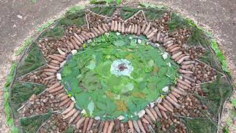 Ein Werk aus dem von Ursula Fluri-Baumgartner geleiteten Workshop «LandArt – Naturkunst gestalten».