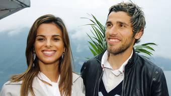 Ein Bild aus glücklichen Tagen: Valon Behrami und seine Ehefrau Elena trennen sich nach zwölf Jahren.