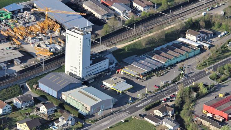 Luftbild des Areals der Landi Reba.