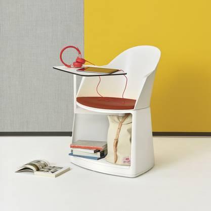 Büro im Miniformat: der Stuhl Cila Go von Arper.