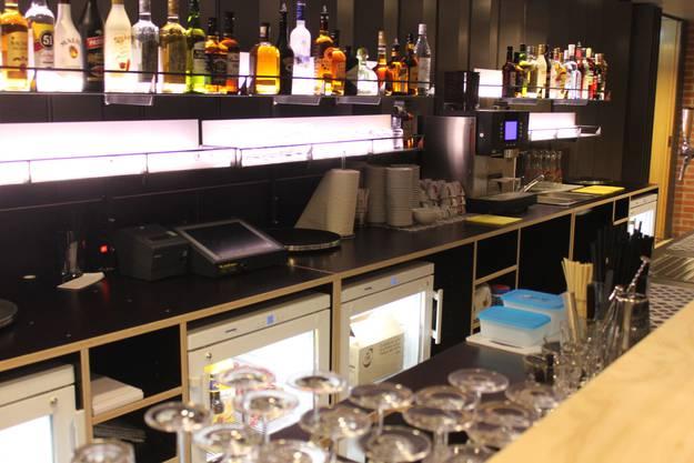 Mobile Bar, zurzeit im Foyer