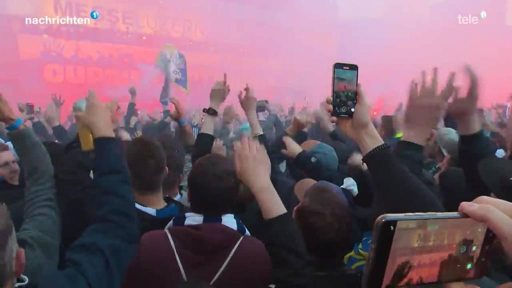 Trotz Verbot: 10'000 Fans an Cupfeier