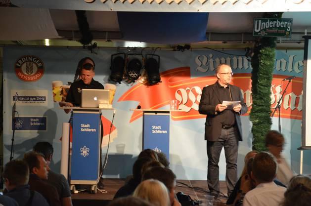 OK-Präsident Rolf Wild und sein Team schafften es dank zahlreicher Überraschungen, das Publikum bereits in Feststimmung zu versetzen