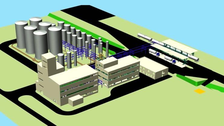 Im Moment kann die Green Bio Fuel AG an der Anlage auf dem Solvay-Areal weiterarbeiten.