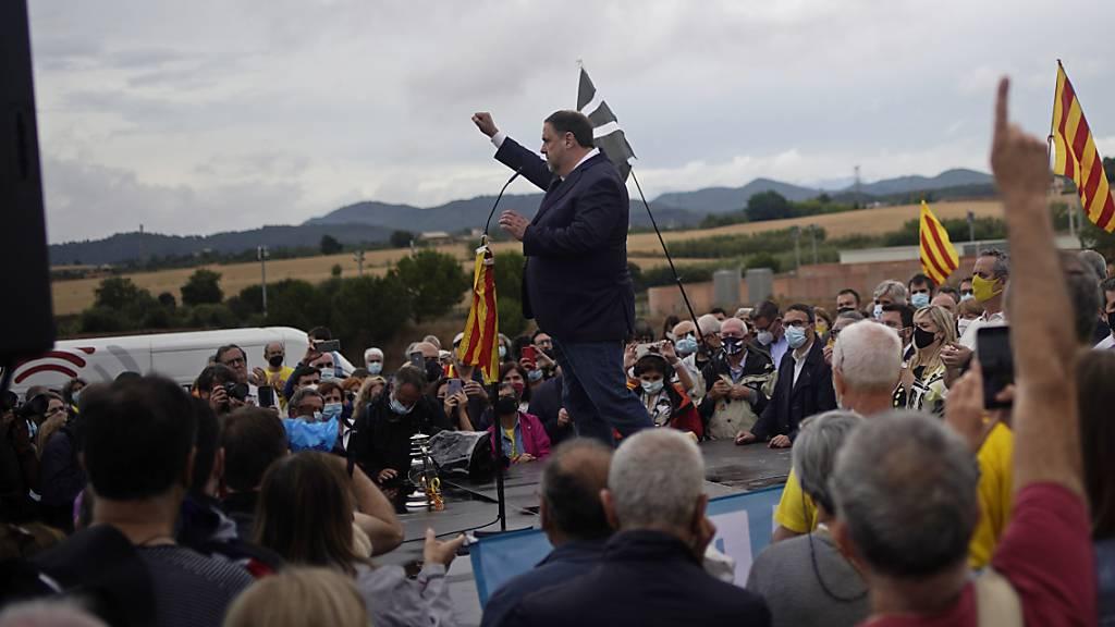 Begnadigte Separatisten fordern «Freiheit für Katalonien»