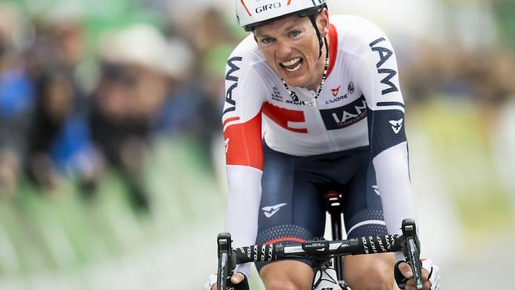 Mathias Frank gewinnt die 17. Etappe der Spanien-Rundfahrt und feiert damit den grössten Erfolg seiner Karriere