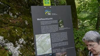 Eine der beliebtesten Wanderrouten im Naturpark Thal ist jene durch die Wolfsschlucht.