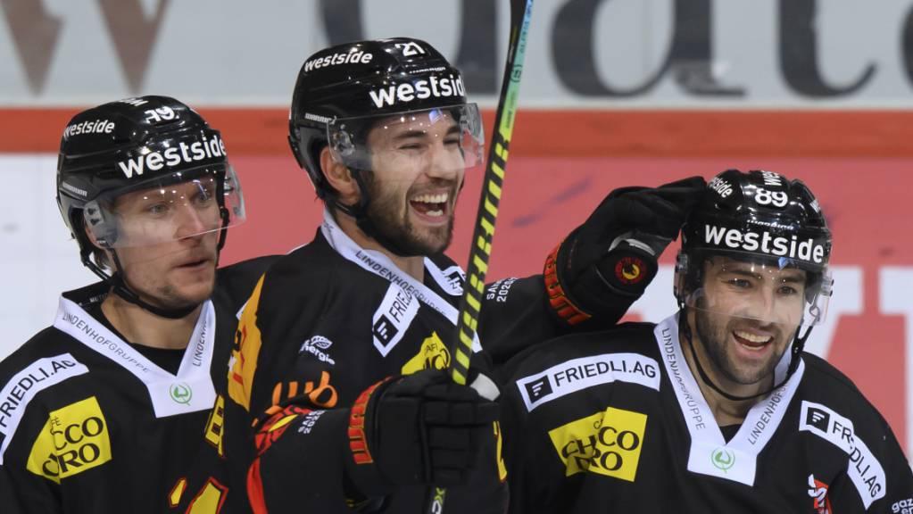 Freude beim SC Bern – zuletzt drei Siege aus vier Spielen.