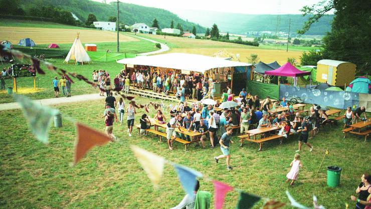 Die Riniker haben ihr kleinLaut-Festival selbst aufgebaut.