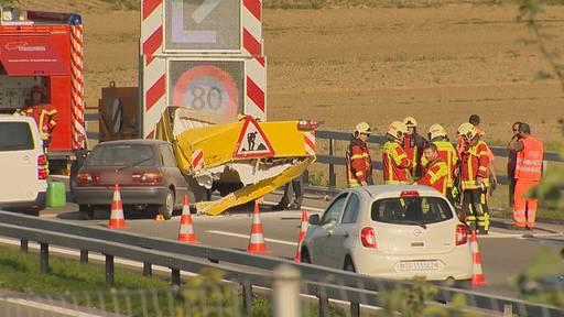 Langer Stau nach Unfall auf A7 bei Frauenfeld