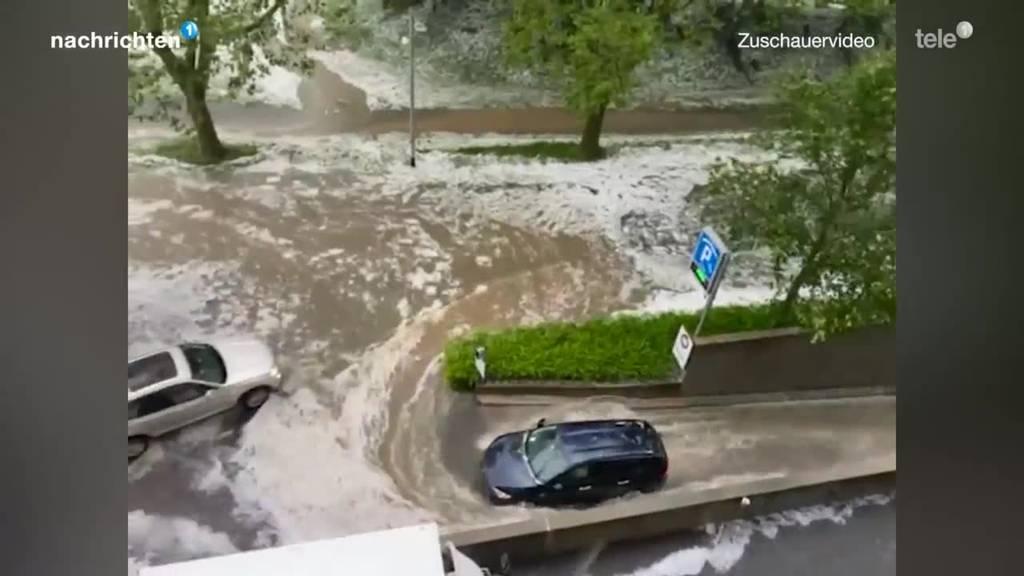Unwetter wüteten in Zug und Luzern
