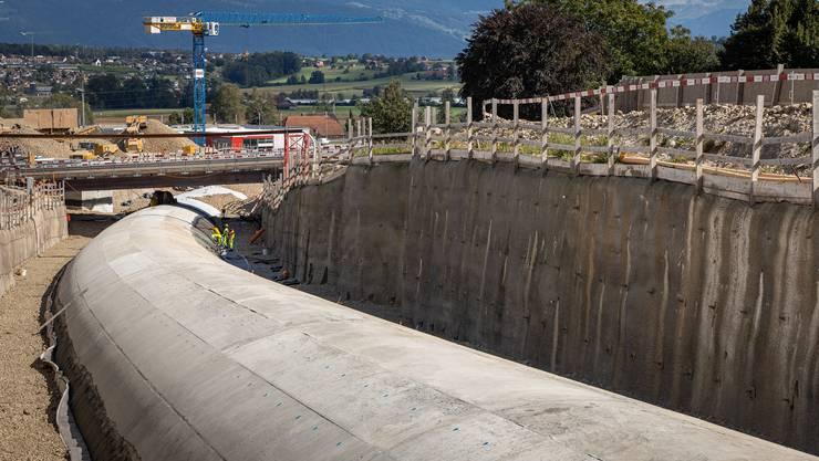 Der Tunnel Letten ist fertig betoniert.