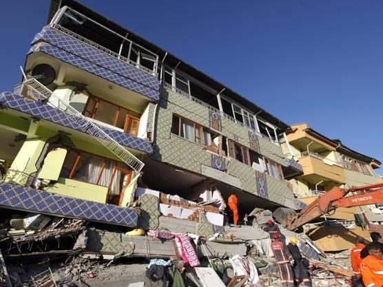 Die Stadt Ercis in der Provinz Van wurde vom Erdbeben besonders schwer getroffen