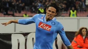 Napolis Edinson Cavani glänzte gegen Dnjepr mit vier Treffern.