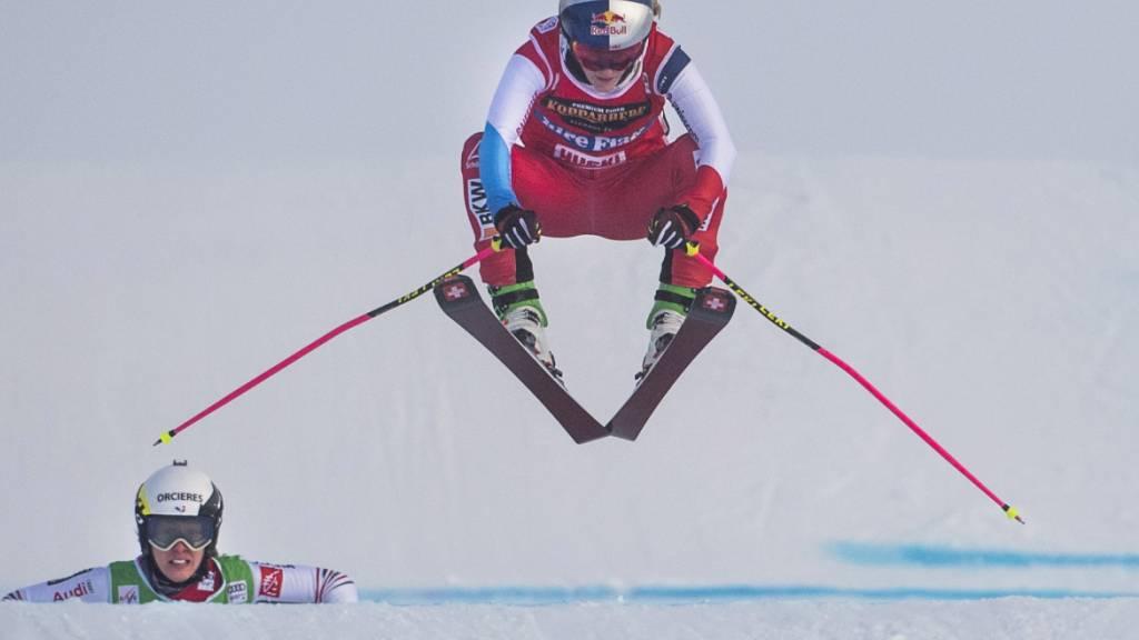 Die Gesamtweltcup-Siegerin Fanny Smith kann auch bei der Weltcup-Premiere im Teamwettkampf überzeugen
