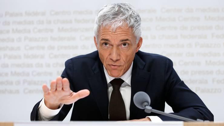 Kann noch auf Angst vor «Strassburg» hoffen: Bundesanwalt Michael Lauber.