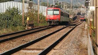 Mit nur zwei Gleisen ist der Viertelstundentakt von Pratteln bis Rheinfelden heute nicht möglich.