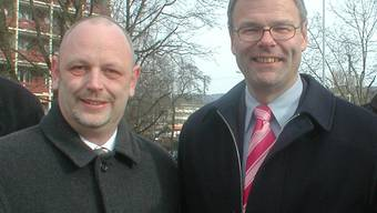 Früher gemeinsam unterwegs: Vor den Wahlen 2006 organisierte Martin Müller (l.) den Stadtpräsidiums-Wahlkampf für Otto Müller.