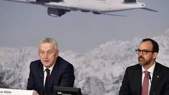 Folgt Markus Binkert (rechts) auf Thomas Klühr? Morgen wird entschieden, wer der neue Swiss-Chef wird.