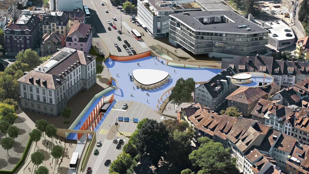 Badens Stadtammann Stephan Attiger zum Schulhausplatz