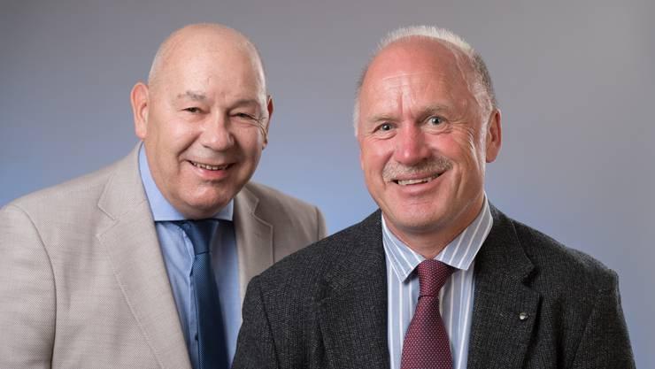 Die beiden Gemeinderäte Hofmann und Lüem kandidieren nochmals für eine neue Amtsperiode